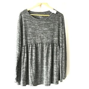 Isabel Maternity heathered gray/white top NWT